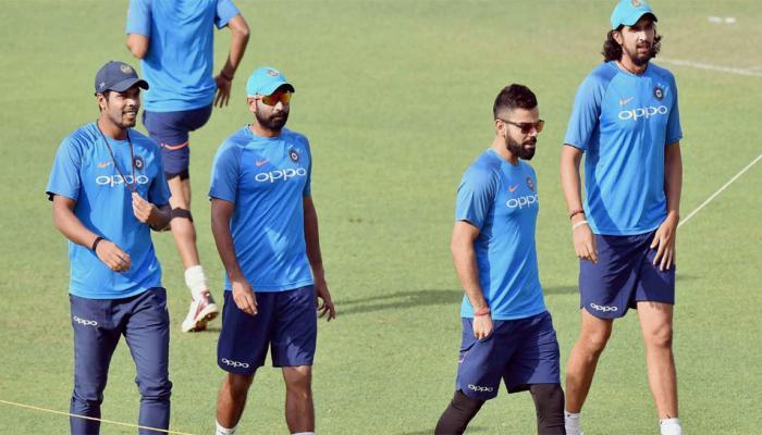 कोलकाता टेस्ट से पहले बारिश, टीम इंडिया की प्रैक्टिस में पड़ा खलल