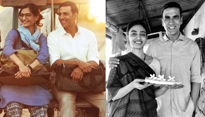 आ गया 'पैडमैन' का नया पोस्टर, अक्षय कुमार के साथ अलग अंदाज में दिखीं राधिका-सोनम