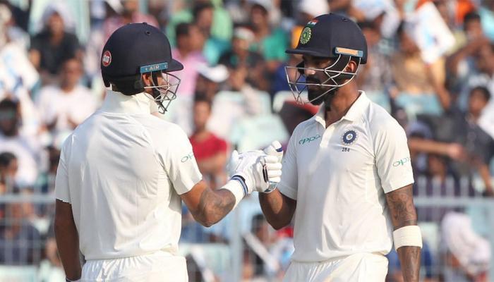 कोलकाता टेस्ट: चौथे दिन का खेल खत्म, भारत का स्कोर 171/1