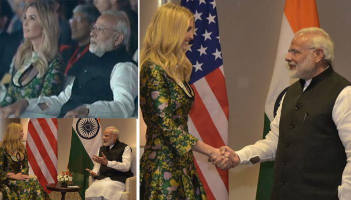 ivanka trump with narendra modi pics