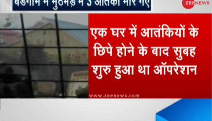 Budgam, J&K: 3 terrorists shot dead