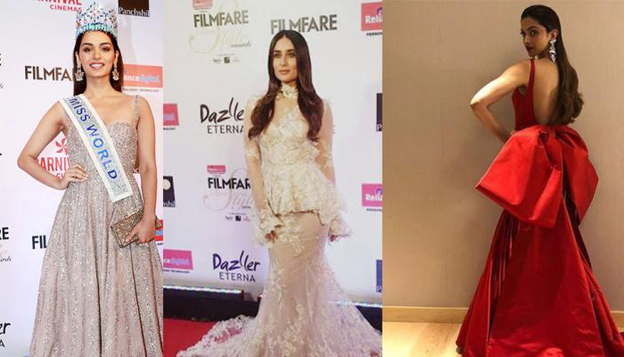 Film fare style and glamour award: miss world manushi chhillar shines in stars