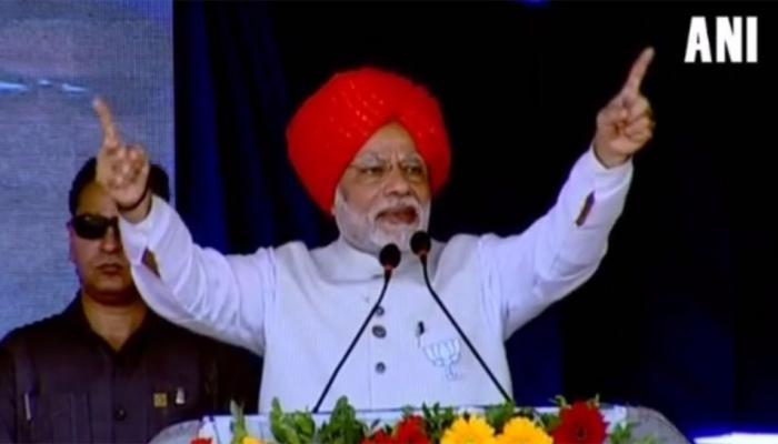 गुजरात चुनाव: 'बंटवारे की राजनीति कर रही है कांग्रेस', भरूच रैली में बोले पीएम मोदी