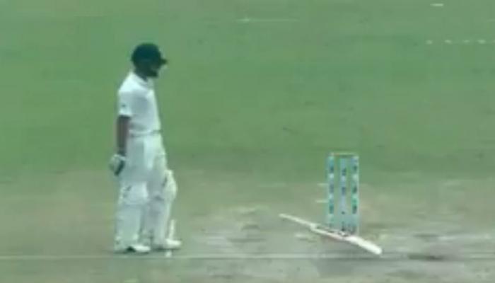 VIDEO: श्रीलंका की इस हरकत पर विराट ने गुस्से में पटका बल्ला, घोषित की पारी