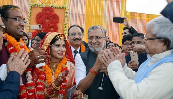 lalu prasad yadav attend Sushil Modi sons wedding Son tej pratap yadav threatened to cheat