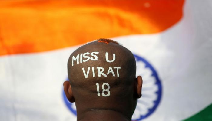 India vs Sri Lanka: A fan of Team india captain Virat Kohli during a practice session ahead of the 1st T-20 match