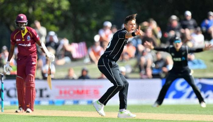 बोल्ट की घातक गेंदबाजी के आगे वेस्टइंडीज ढेर, दूसरे वनडे में न्यूजीलैंड 204 रनों से जीता