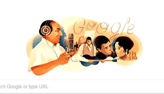 मोहम्मद रफी के जन्मदिन को गूगल ने बनाया खास, डूडल बनाकर किया याद