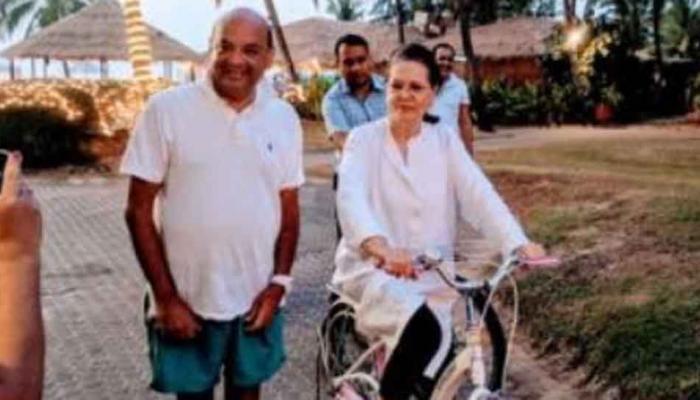 'Sonia Gandhi celebrating Holidays in Goa'