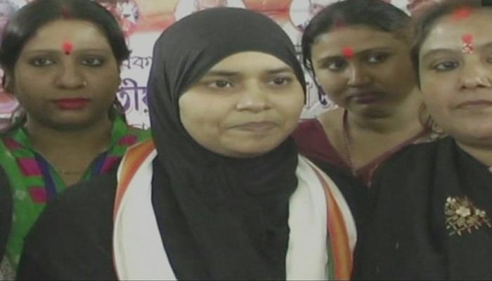BJP में शामिल हुईं तीन तलाक के खिलाफ जंग लड़ने वाली इशरत जहां