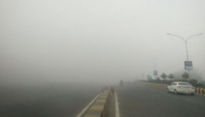 fog in new delhi lowers visibility effect traffic