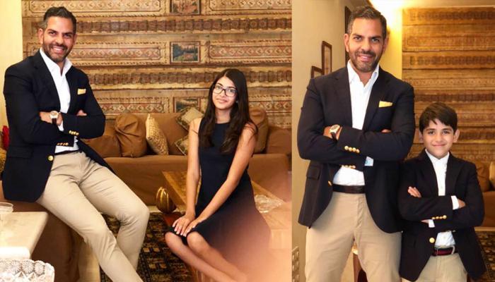 Viral Photos: करिश्मा कपूर के Ex पति संजय कपूर के साथ नजर आए उनके बच्चे