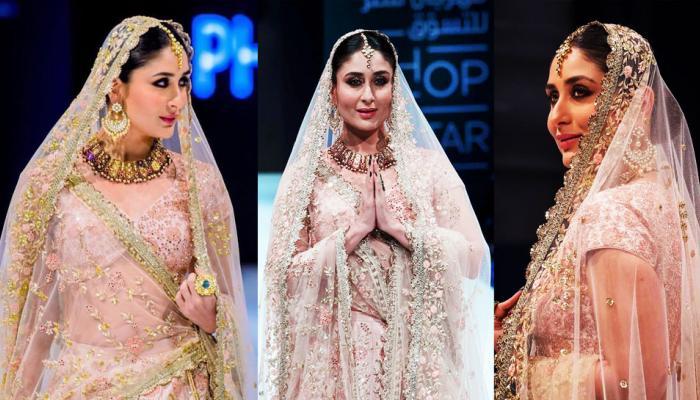 Kareena Kapoor steps out as a stunning bride at Doha