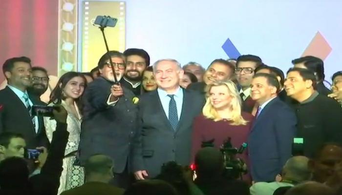 इजरायली पीएम नेतन्याहू पर चढ़ा बॉलीवुड का खुमार, अमिताभ बच्चन ने ली सेल्फी