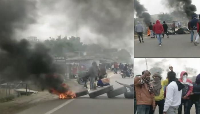 'पद्मावत' विरोध : धारा 144 के बाद भी गुरुग्राम में हिंसक प्रदर्शन, कई जगह आगजनी और तोड़फोड़