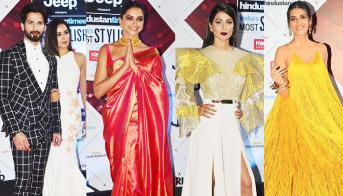 Padmaavat Star Deepika Padukone Shahid Kapoor Hina Khan HT Most Stylish Awards 2018