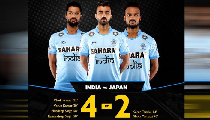 भारतीय हॉकी टीम ने जापान को 4-2 से दी शिकस्त, जीत में चमके मनदीप और रमनदीप