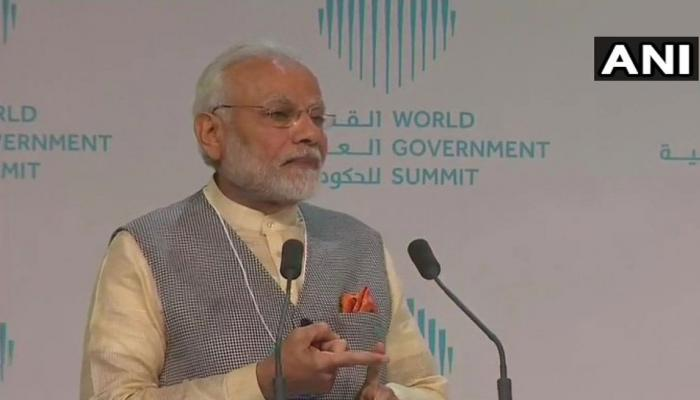 WGS में भी छाया आधार, PM मोदी ने कहा Aadhaar से 800 करोड़ की लीकेज पाट दिया