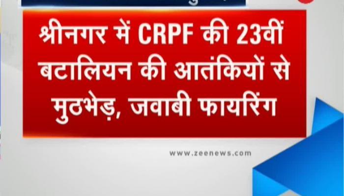 Firing continues outside 23rd battalion headquarter of CRPF, Srinagar