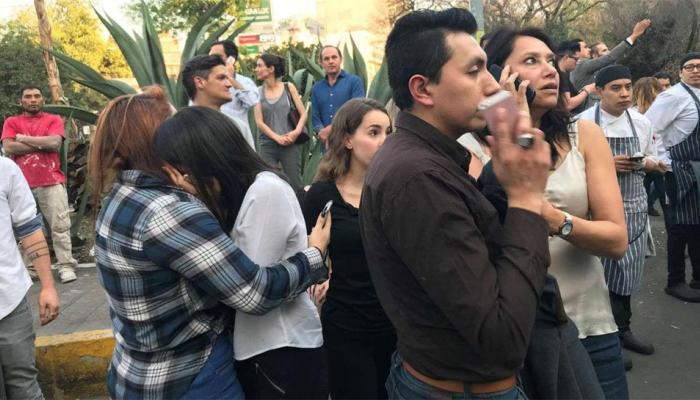 VIDEO: भूकंप के तेज झटके से हिला मेक्सिको, रिक्टर स्केल पर तीव्रता 7.2