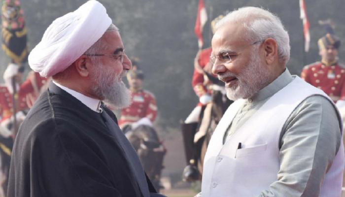 narendra modi welcomes iran president hassan rouhani