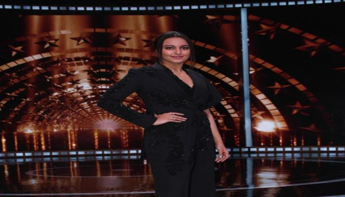 Actress Sonakshi Sinha on the sets of reality show India's Next Superstars in Mumbai