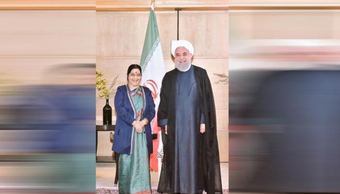 सुषमा स्वराज ने की ईरान के राष्ट्रपति से मुलाकात, शिक्षा-संस्कृति सहित कई मुद्दों पर हुई बात