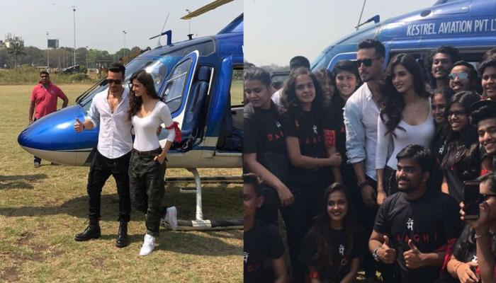 before the trailer launch of his movie baaghi 2 tiger shroff and disha patani had a grand entry