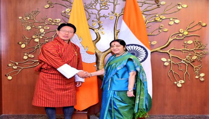 भूटान के साथ साझेदारी को आगे बढ़ाने के लिए भारत प्रतिबद्ध : सुषमा स्वराज