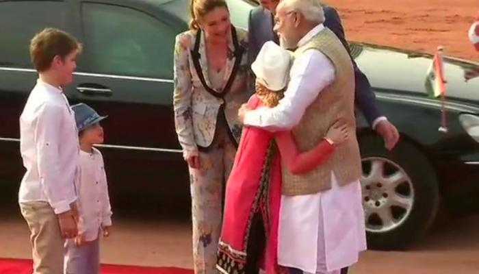 VIDEO: जब पीएम मोदी ने किया नन्हें ट्रूडो का स्वागत तो ऐसा था उनका रिएक्शन