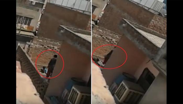SHOCKING VIDEO: मां ने पहले 3 साल की बेटी को लातें मारीं, फिर सिर पकड़कर जमीन में दे मारा