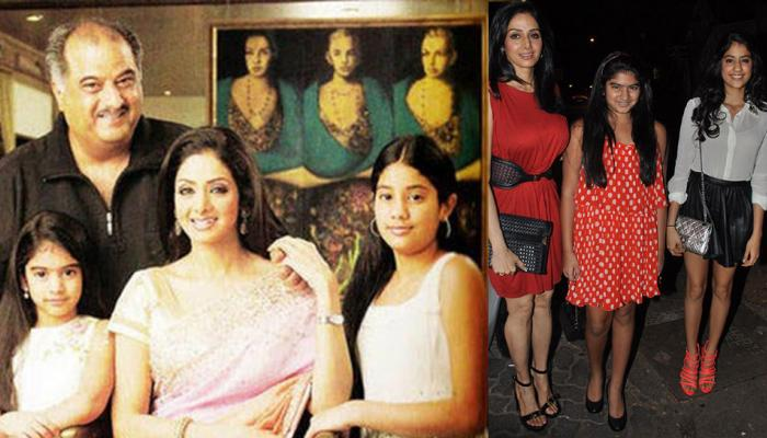 see these sweet pics of sridevi with her daughters jhanvi and khushi kapoor