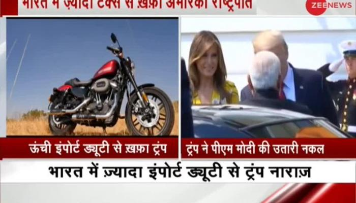 US President Donald Trump raises Harley Davidson tariff issue
