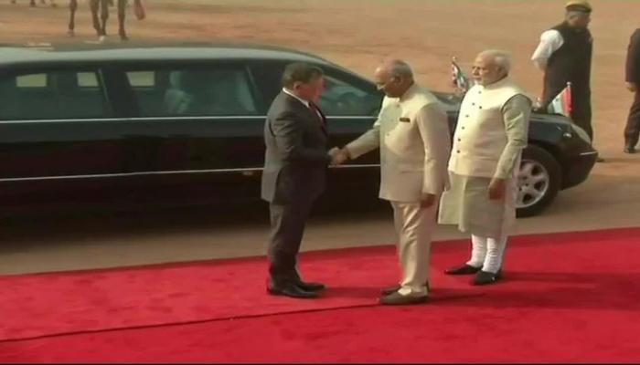 King of Jordan Abdullah II welcome in rashtrapati bhawan