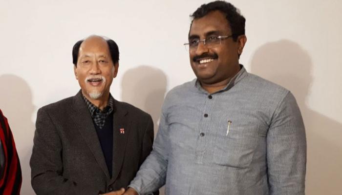 नागालैंड में नेफियो रियो ने की राम माधव से मुलाकात, क्या चौथी बार बनेंगे सीएम?