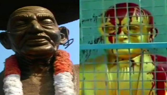 नहीं थम रहा मूर्ति तोड़ने का सिलसिला तमिलनाडु में गांधी, तो केरल में अम्बेडर की मूर्ति क्षतिग्रस्त