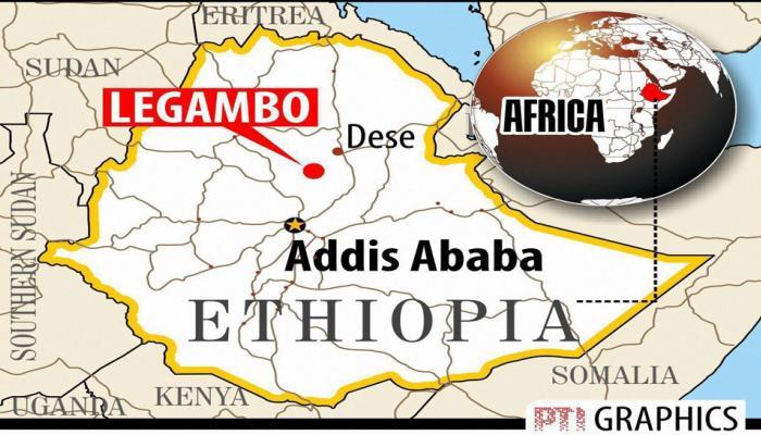 इथोपिया : पहाड़ से नीचे गिरी बस, 38 लोगों की मौत