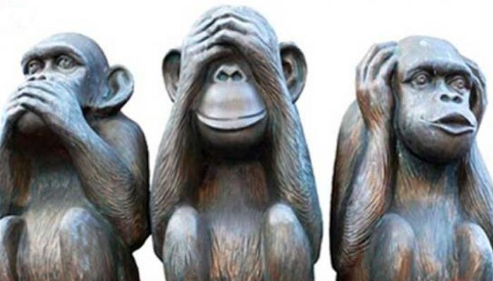 Do you know which of the three monkeys of Gandhi ji were made and where are they?