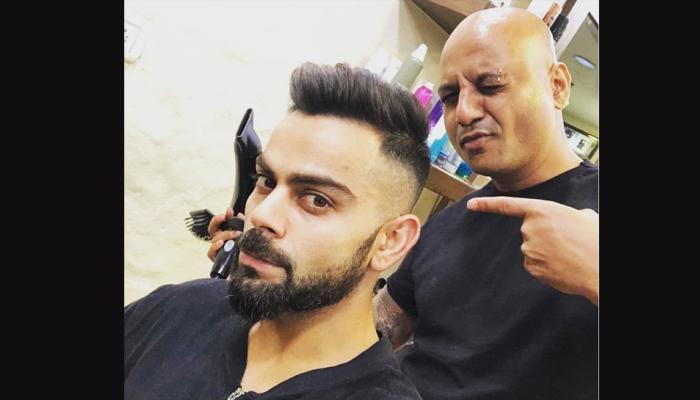 IPL 2018 से पहले विराट कोहली ने उड़ाए बाल, लिया ये नया स्टाइलिश LOOK