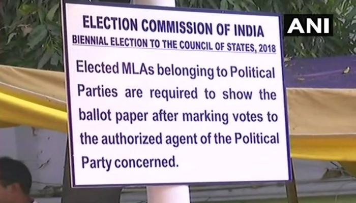 rajya sabha elections 2018 6 state 25 seats voting underway