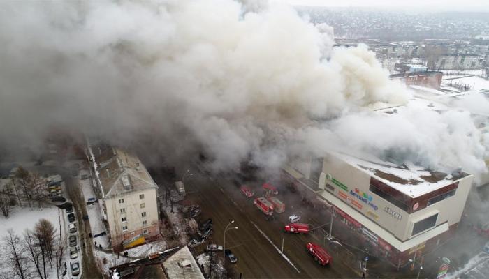 रूस: साइबेरिया के शॉपिंग माल में भीषण आग, 11 बच्चों सहित 64 लोगों की मौत