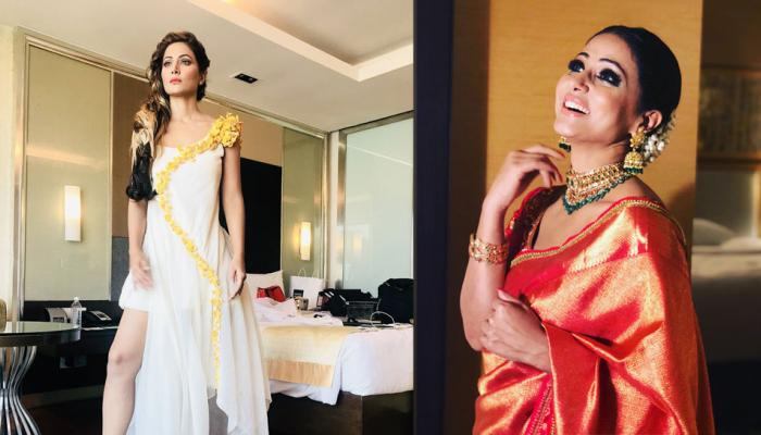 Hina Khan styled in white yellow for her new fashion show, view pics