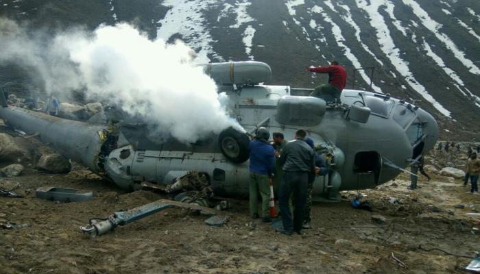 रुद्रप्रयाग में एयरफोर्स का MI-17 हेलिकॉप्टर दुर्घटनाग्रस्त, पायलट सहित 4 लोग घायल