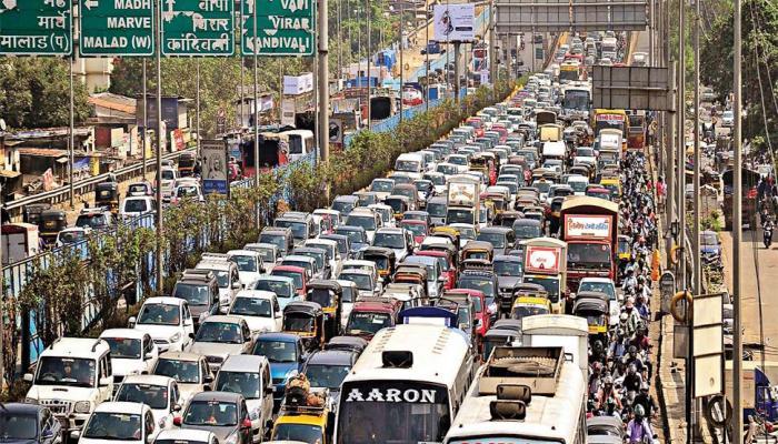 BJP's foundation day Mega Celebration heavy Traffic Jams In Mumbai