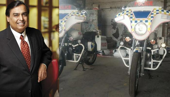 Mukesh ambani ordered two bikes for its security personnel