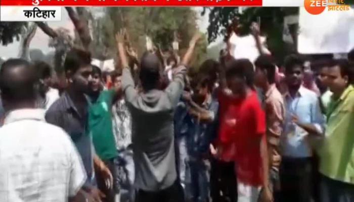 Polytechnic College students jam highway in Katihar
