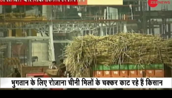Uttar Pradesh farmers shows anger over dues by sugar mills