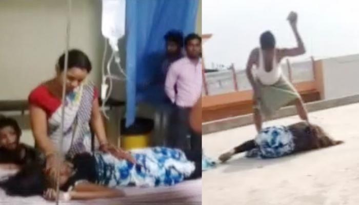 VIDEO: पिता की पिटाई से घबराई नाबालिग छत से कूदी, फोन पर किसी से कर रही थी बात