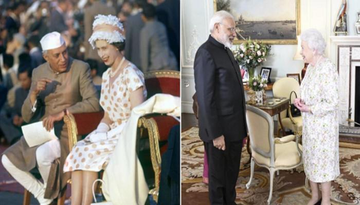 British Queen Elizabeth II meeting with Jawaharlal Nehru to PM Narendra Modi