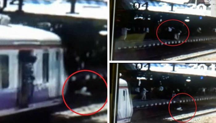 VIDEO: प्लेटफॉर्म पर हुआ झगड़ा, दंपति ने शख्स को चलती ट्रेन के सामने दे दिया धक्का